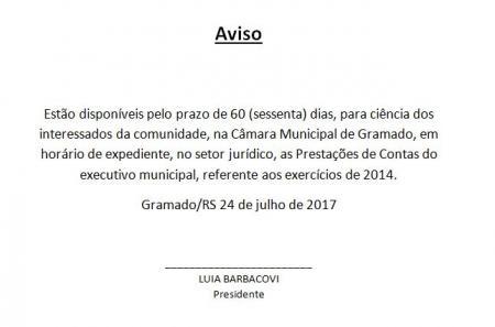 Câmara disponibiliza para consulta Contas do Prefeito Municipal